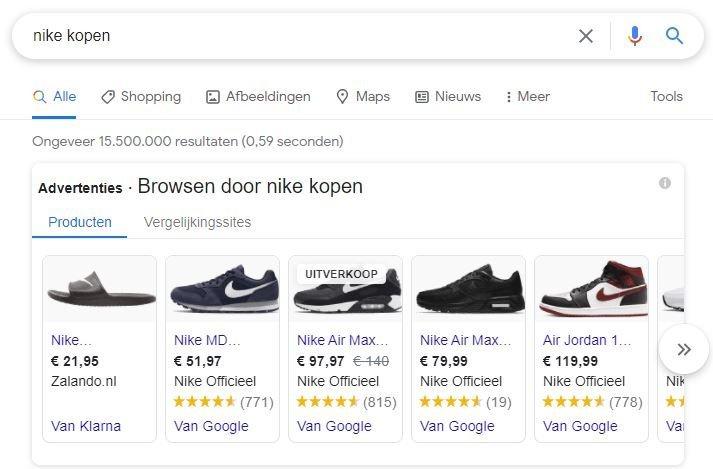 Google Shopping Advertentie